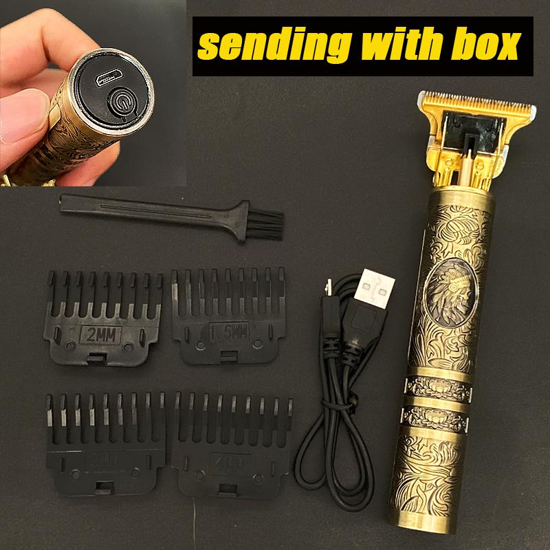 miniature 22 - Tondeuse Cheveux Electrique Professionnelle 2021 Machine Rasoir Barbe USB Hommes