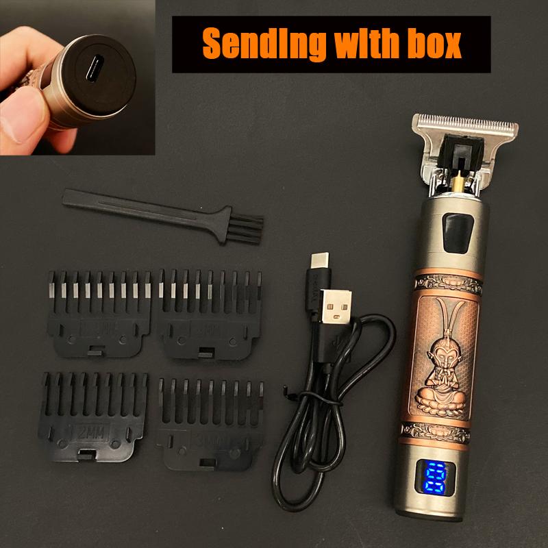 miniature 18 - Tondeuse Cheveux Electrique Professionnelle 2021 Machine Rasoir Barbe USB Hommes